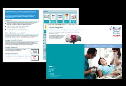 Initial Medical Services brochure design