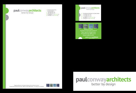 Paul Conway Architects stationery
