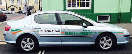 Gerry Finnerty Elections Signwriting